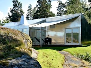 Aluminum Cabin Eclectic style houses by Jarmund/Vigsnæs AS Arkitekter MNAL Eclectic