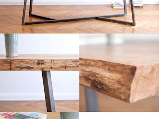 NUTSANDWOODS Oak Steel Table:   von NUTSANDWOODS