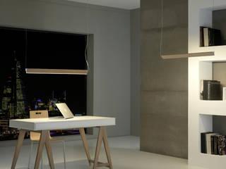 Modern Study Room and Home Office by FM ILUMINACION SLU Modern