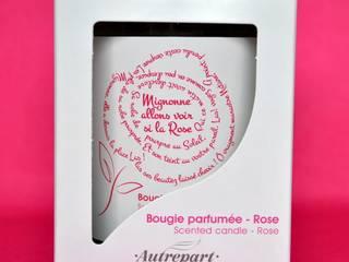 """BOUGIE PARFUMEE """"MIGNONNE ALLONS VOIR SI LA ROSE"""", PARFUM ROSE:  de style  par AUTREPART"""