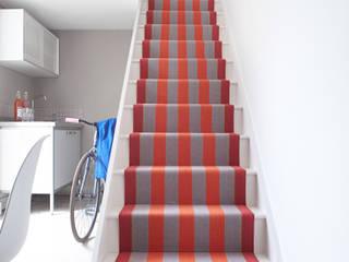 Fitzroy Bright Modern corridor, hallway & stairs by Roger Oates Design Modern