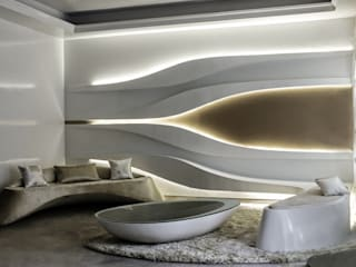 Undulating Living Living room by Studio Symbiosis