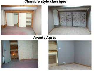 Chambre adulte ambiance classique: Chambre de style  par Desille Stephanie