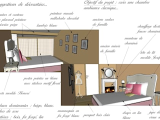Chambre adulte ambiance classique Chambre par Desille Stephanie