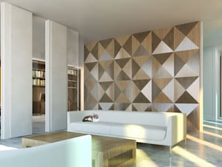 Lofts à Lima - Séjour:  de style  par Aude Morgenthaler
