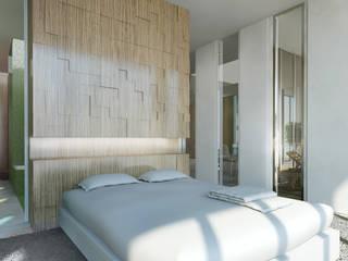 Lofts à Lima - Chambre principale:  de style  par Aude Morgenthaler