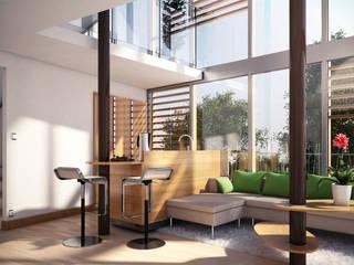 Maison dans les arbres Salon minimaliste par Pepindebanane Minimaliste