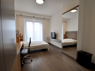 Appartement Amsterdam:  Slaapkamer door Bobarchitectuur, Minimalistisch
