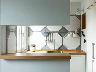 Cocina Casas modernas: Ideas, diseños y decoración de ACABADOMATE Moderno
