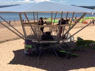 Poda on the beach:   by The Poda Company (UK) Limited