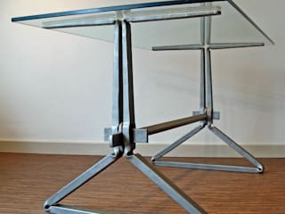 Wedge table:   by James Price Blacksmith and Designer