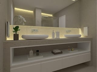 Beach Flat :  Bathroom by Robson Martins Interior Design