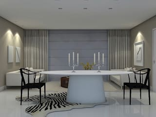 Beach Flat :  Dining room by Robson Martins Interior Design,