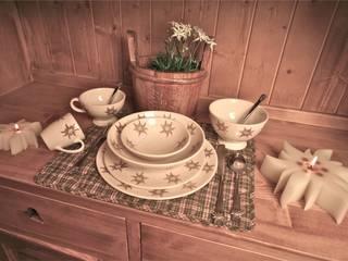 Petite tasse à déjeuner  avec motifs Edelweiss:  de style  par LES SCULPTEURS DU LAC