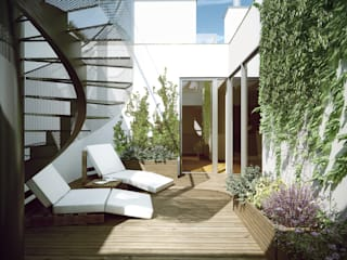 Balkon, Beranda & Teras Modern Oleh Hofmann Architekten ZT GmbH Modern