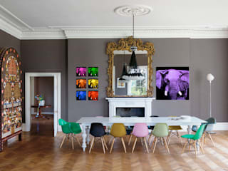 Home In-situ animal paintings Ruang makan: Ide desain, inspirasi & gambar Oleh Thierry Bisch - Peintre animalier - Animal Painter