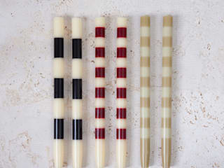 Striped candles | simplistic collection: modern  by Fate London, Modern