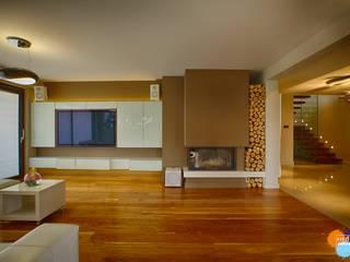 Salones de estilo moderno de Studio Projektowe Projektive Moderno