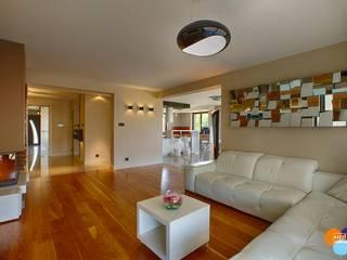Studio Projektowe Projektive 现代客厅設計點子、靈感 & 圖片
