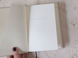 Hardback gold & cream notebook: minimalist  by Fate London, Minimalist