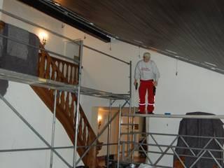 alte Holdecke verkleidet von art-tectum Decke-Wand-Licht Ausgefallen