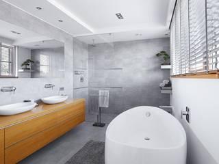 Bagno moderno di ARCHiPUNKTURA .architekci detalu Moderno