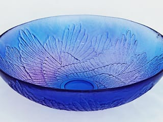 Paradise Wings Bowl, Purple by Mats Jonasson at Riverside Art and Glass.:   by Riverside Art and Glass, Contemporary Gallery