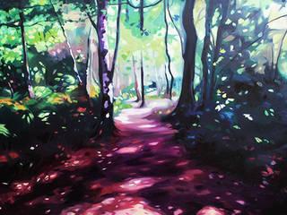 'Woodland Walk' by Helen Shepherd at Riverside Art and Glass.:   by Riverside Art and Glass, Contemporary Gallery