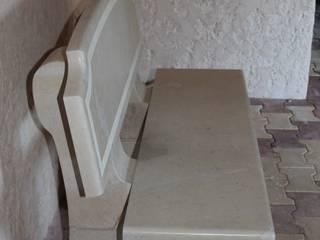 Banc en pierre:  de style  par Alexandre Marque Taille de pierre