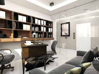 Modern style study/office by MONOstudio Modern