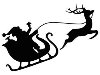 Weihnachtsmann mit Rentier:   von Denoda