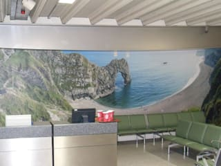 A selection of wall art designed and installed by the team at Universal Graphix Modern airports by Universal Graphix Modern