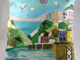 Clifton Balloons Cushion:   by Emmeline Simpson