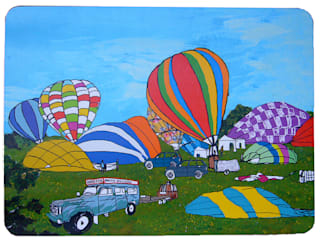Early Balloon Ascent Placemat:   by Emmeline Simpson