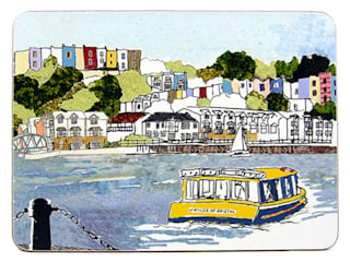 Harbourside View Placemat:   by Emmeline Simpson