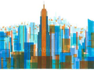 Manhattan Impressions No.4: modern  by Suzy Abrahams, Modern