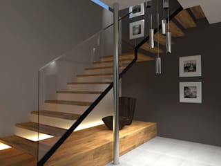 Haus M. Innenarchitektur | Ina Nimmrichter Moderner Flur, Diele & Treppenhaus