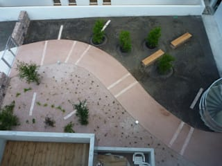 Les jardins de Divona Jardin moderne par Atelier du sablier Moderne