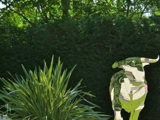 El Padre: Taureau en Inox poli miroir:  de style  par Jakos