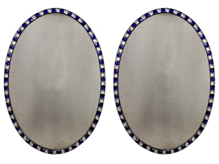 A Pair Of George III Style Studded Irish Mirrors: classic  by Antiques, Lighting and The Interior, Classic