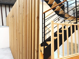 Bergerie _ Origami Monochrome Maisons modernes par CRISS CROSSING Moderne