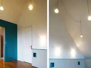 Petrol Blue Chambre moderne par CRISS CROSSING Moderne