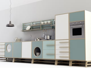 Happy Kitchen:  in stile industriale di Design Mood, Industrial