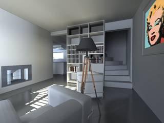 Pasillos, vestíbulos y escaleras de estilo minimalista de Agence Mursmurs Minimalista