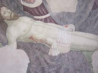 affresco scoperto nell'abside della chiesa di San lorenzo in Basci o alto:  in stile  di Maria Chiara Tonucci
