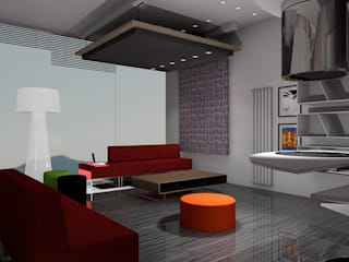ARREDAMENTO MONOLOCALE SULLE RIVE DEL LAGO DI COMO: Cucina in stile  di Designer1995  Live Work Design