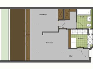 Appartement: modern  von eswerderaum,Modern