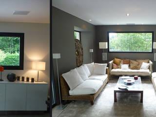 Biarritz, Pays Basque Salon moderne par Agence Diot-Clément Moderne