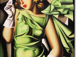 Kobieta w zielonej sukience: styl , w kategorii  zaprojektowany przez MSP Sp. z o.o.