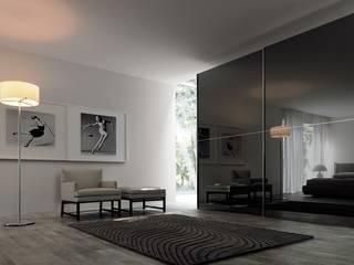 Kleiderschrank Twin mit Glasschiebetüren:   von Wohnstation